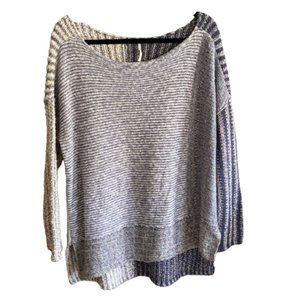 Free People Knit Sweater Oversized multi stripe